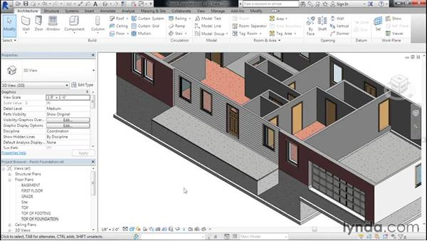 Adding a foundation under a porch: Designing Home Plans with Revit