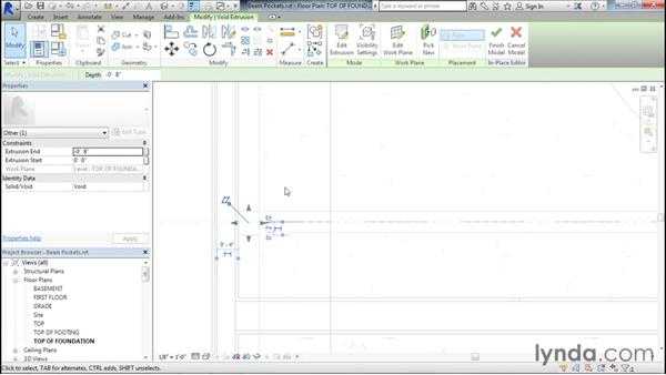 Adding beam pockets: Designing Home Plans with Revit