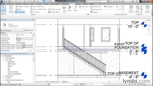 Creating an interior staircase and railing: Designing Home Plans with Revit