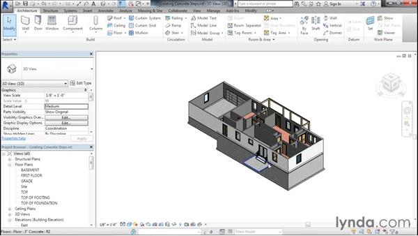 Creating concrete steps: Designing Home Plans with Revit