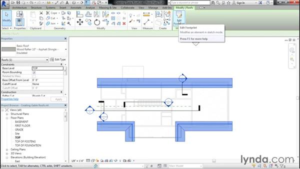 Creating gable roofs: Designing Home Plans with Revit