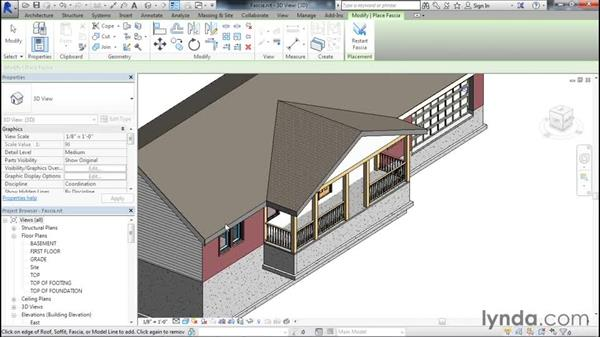 Applying fascia boards to the roof on revit design, revit floor plans with dimensions, revit sample plans, 1920s craftsman bungalow house plans, revit architecture, adobe style homes floor plans, revit home, revit 2013 portfolios, small revit floor plans,