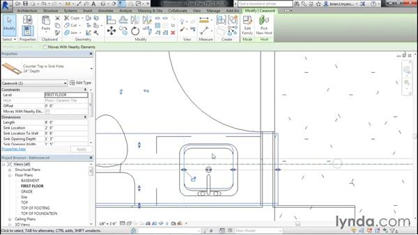 Creating bathrooms: Designing Home Plans with Revit