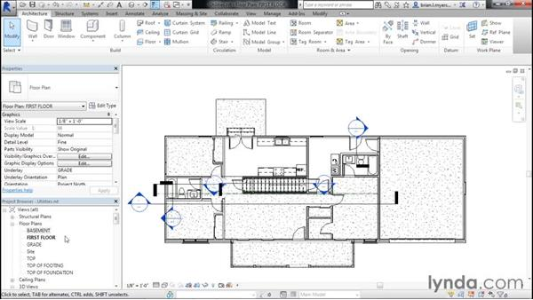Placing utilities, washer, and dryer: Designing Home Plans with Revit