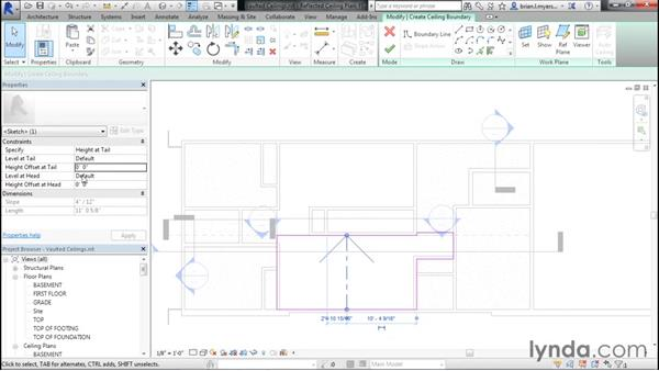 Adding vaulted ceilings: Designing Home Plans with Revit