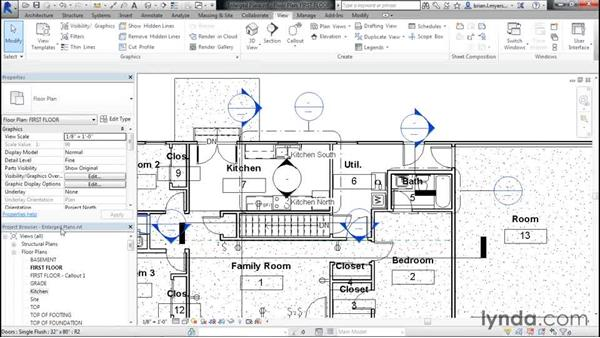 Creating enlarged kitchen and bathroom plans: Designing Home Plans with Revit