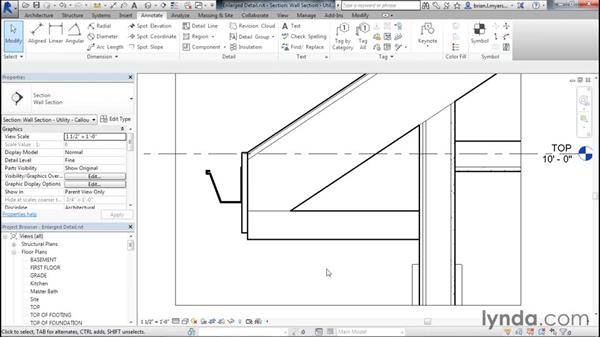Creating an enlarged detail view: Designing Home Plans with Revit
