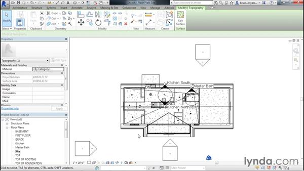 Creating the site: Designing Home Plans with Revit
