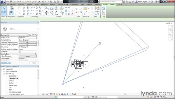 Creating camera views: Designing Home Plans with Revit