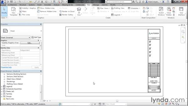 Creating standard sheets: Designing Home Plans with Revit