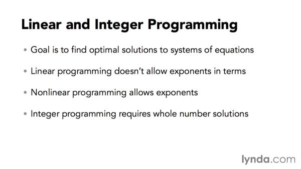 Introducing linear and integer programming: Solving Optimization and Scheduling Problems in Excel