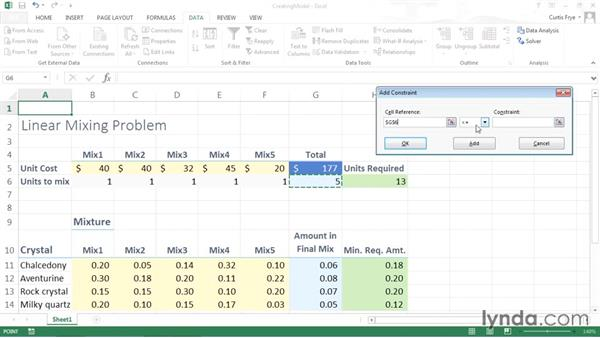 Finding a solution using Solver: Solving Optimization and Scheduling Problems in Excel