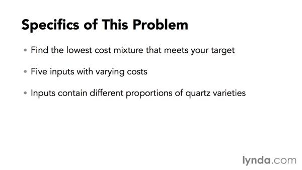 Introducing the problem: Solving Optimization and Scheduling Problems in Excel