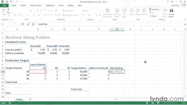 Defining changing value cells and summary formulas: Solving Optimization and Scheduling Problems in Excel