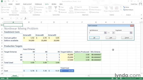 Setting the problem's criteria in Solver and solving: Solving Optimization and Scheduling Problems in Excel
