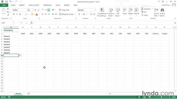 Organizing the worksheet: Solving Optimization and Scheduling Problems in Excel