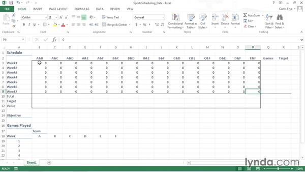 Adding data and changing values to the worksheet: Solving Optimization and Scheduling Problems in Excel
