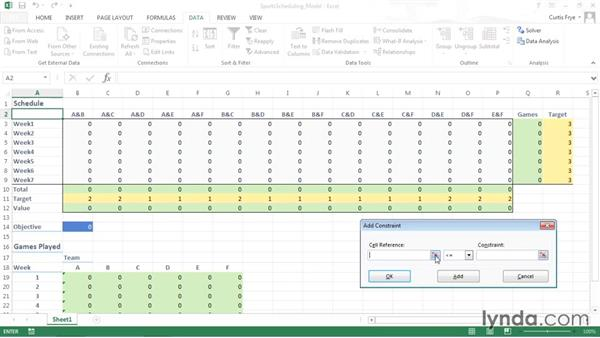 Setting the problem's criteria in Solver: Solving Optimization and Scheduling Problems in Excel