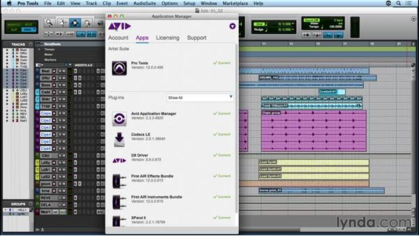Connecting to the Avid Application Manager: Up and Running with Pro Tools