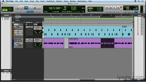 Fixing your part with QuickPunch recording: Up and Running with Pro Tools
