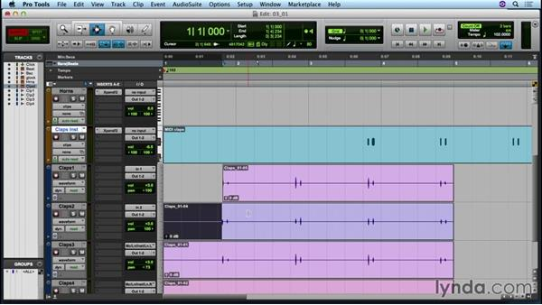 Understanding the editing modes and tools: Up and Running with Pro Tools