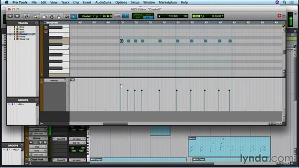 Editing and arranging MIDI: Up and Running with Pro Tools