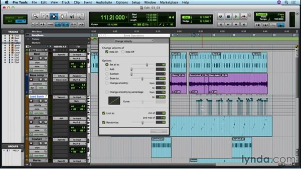 Exploring MIDI Event Operations: Up and Running with Pro Tools