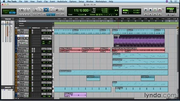 Editing and arranging audio: Up and Running with Pro Tools