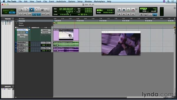 Working with a video track: Up and Running with Pro Tools