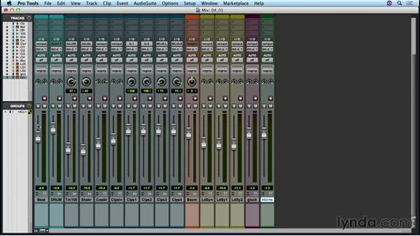 Preparing your project for mixing: Up and Running with Pro Tools