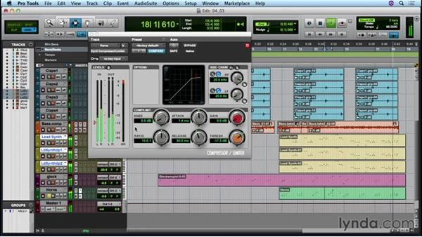 Adding compression to the mix: Up and Running with Pro Tools