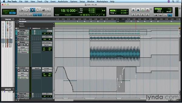 Editing automation: Up and Running with Pro Tools