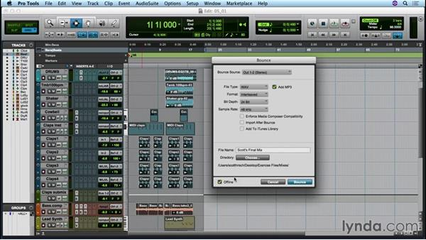 Finalizing and exporting your mix: Up and Running with Pro Tools