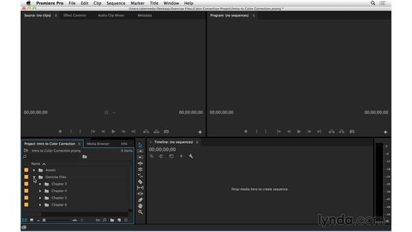 Using the exercise files: Introduction to Video Color Correction
