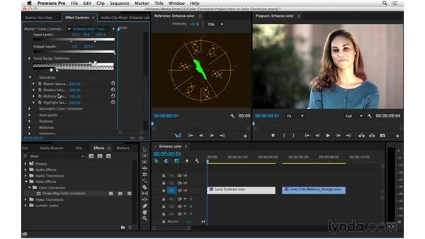 Enhancing hue and saturation using the vectorscope: Introduction to Video Color Correction
