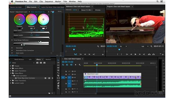 Applying a bleach-bypass look: Introduction to Video Color Correction