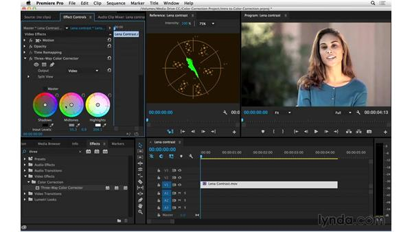 Correcting flat footage: Introduction to Video Color Correction