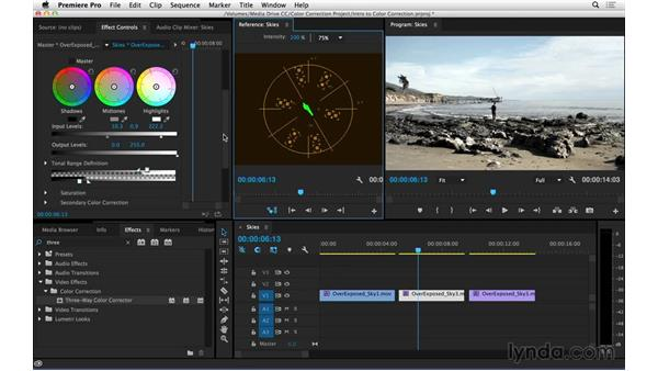Correcting and adjusting skies: Introduction to Video Color Correction