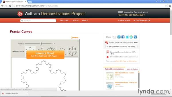 Browsing the Demonstrations library: Mathematica 10 Essential Training