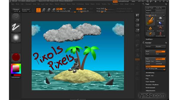 Understanding pixols: ZBrush 3 for Windows Essential Training
