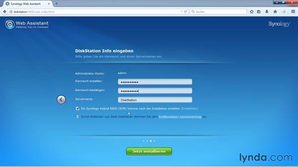 Synology DSM: Installation des NAS-Betriebssystems