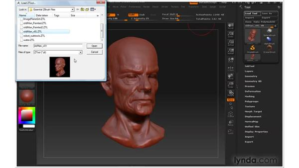 Saving models: ZBrush 3 for Windows Essential Training