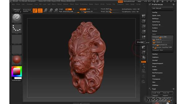 Managing memory in ZBrush: ZBrush 3 for Windows Essential Training