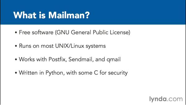 What is Mailman?: Managing Mailing Lists with Mailman
