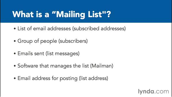 What is a mailing list?: Managing Mailing Lists with Mailman