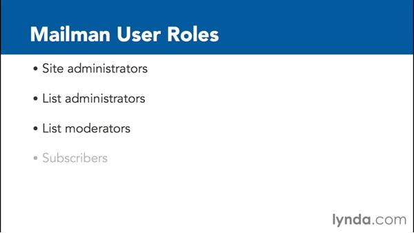 Understanding Mailman users and roles: Managing Mailing Lists with Mailman