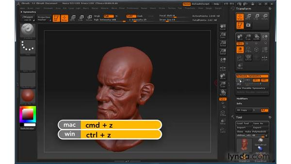 Activating symmetry: ZBrush 3 for Windows Essential Training