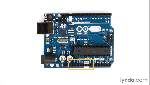 Exploring the components of an Arduino board: Up and Running with Arduino