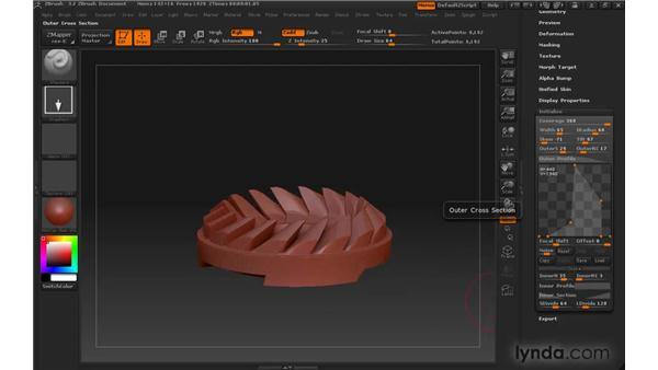 Adding parts to your model with subtools: ZBrush 3 for Windows Essential Training