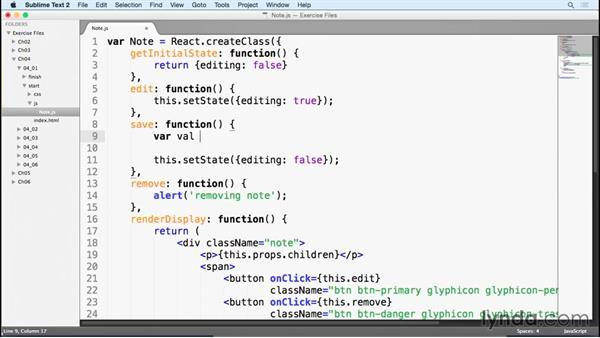 Using refs: Learn React.js: The Basics (2015)